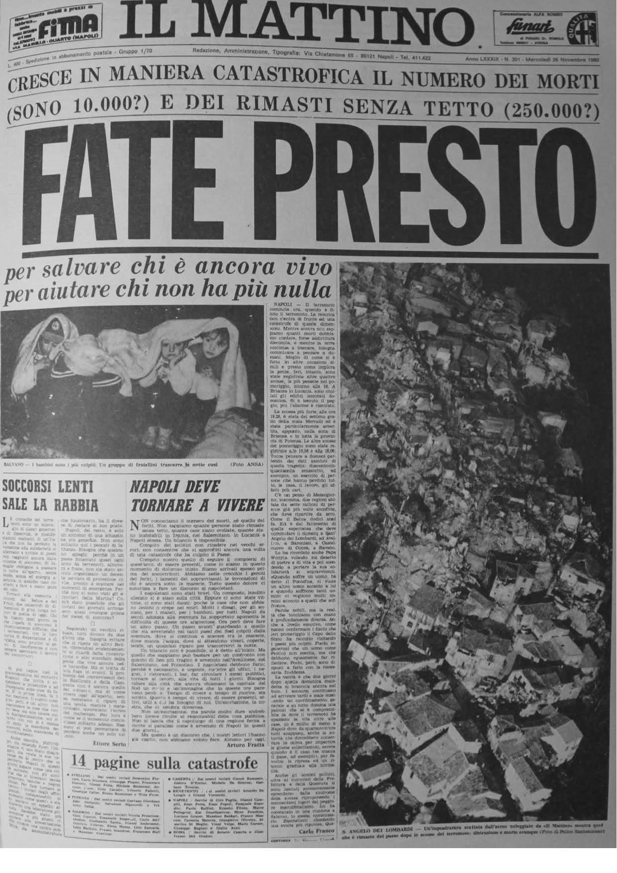 Il Mattino, 26.11.1980