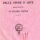 Anno 1883: Catalogo delle opere d'arte esistenti in Bagnoli Irpina