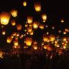Sky lantern al Laceno