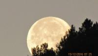 Alba al Cervialto e tramonto della SUPERLUNA (all'aurora) su Montella