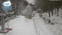 Che freddo in Irpinia, prime gelata e spruzzi di neve sul Laceno