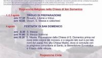 Bagnoli Irpino – Festeggiamenti in onore di S. Domenico