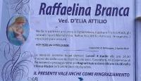 Raffaelina Branca, vedova D'Elia Attilio (Coperchia di Pellezzano)