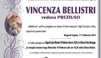 Vincenza Bellistri, vedova Preziuso