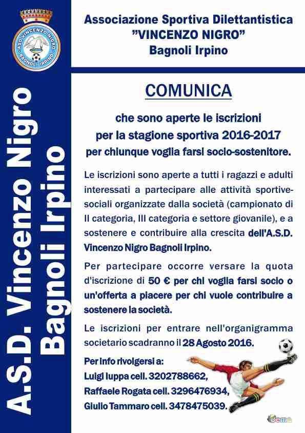 Asd-Vincenzo-Nigro-Campagna-tesseramento-2016