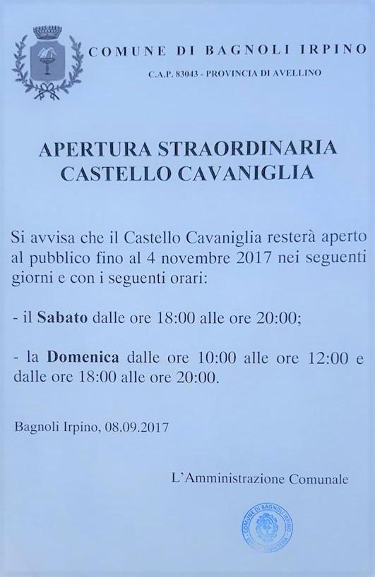 Bagnoli-orari-apertura-Castello-Cavaniglia-0210.09.2017