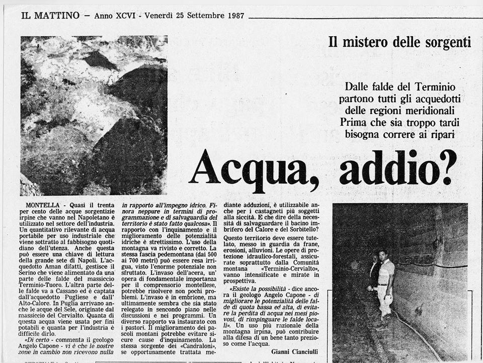 Il-Mattino-1987-Acqua-Addio