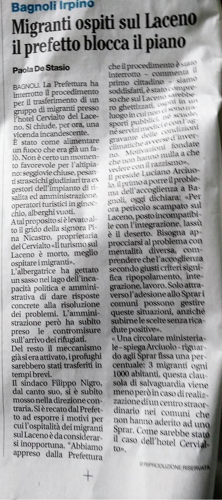 Il-Mattino-30.11.2017-Migranti-No-Prefettura