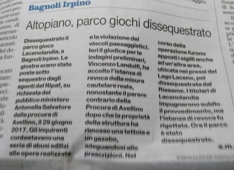 Il-Mattino-Dissequestro-Parcogiochi-Lacenolandia-25.02.2018
