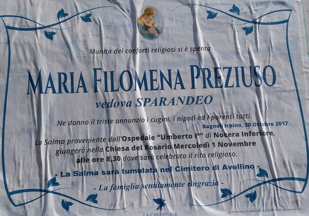 Maria-Filomena-Preziuso-vedov-Sparandeo
