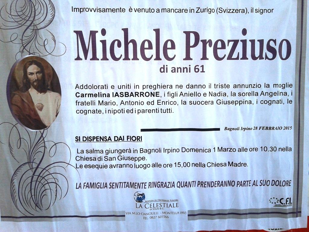 michele preziuso (zurigo ? svizzera)   associazione culturale ... - Fiori Bagnoli Irpino