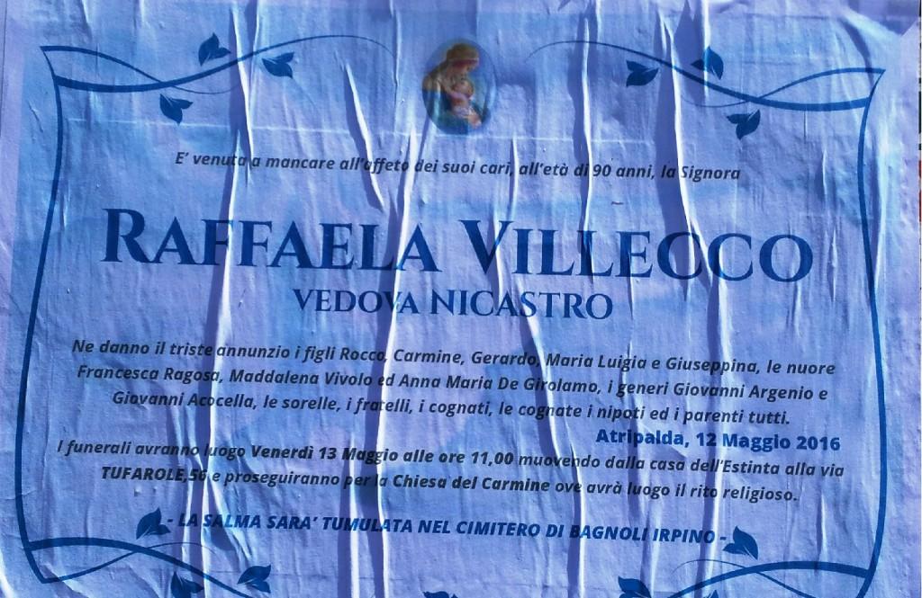 Raffaela-Villecco, vedova Nicastro