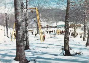 Anni '70: La sciovia Serroncelli in attività.