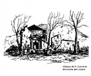 Chiesa di San Lorenzo (disegno di Angelo Labbiento)