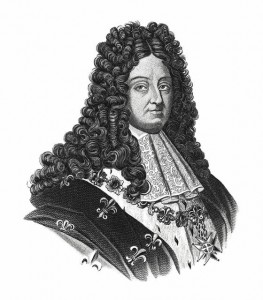 """19th-century illustration of Louis XIV (1638 – 1715), known as Louis the Great or the Sun King, was a monarch of the House of Bourbon who ruled as King of France and Navarre from 1643 until his death. His reign of 72 years and 110 days is the longest of any monarch of a major country in European history. Original artwork published in """"A pictorial history of the world's great nations: from the earliest dates to the present time"""" vol.2 by Charlotte M. Yonge (Selmar Hess, New York, 1882)."""